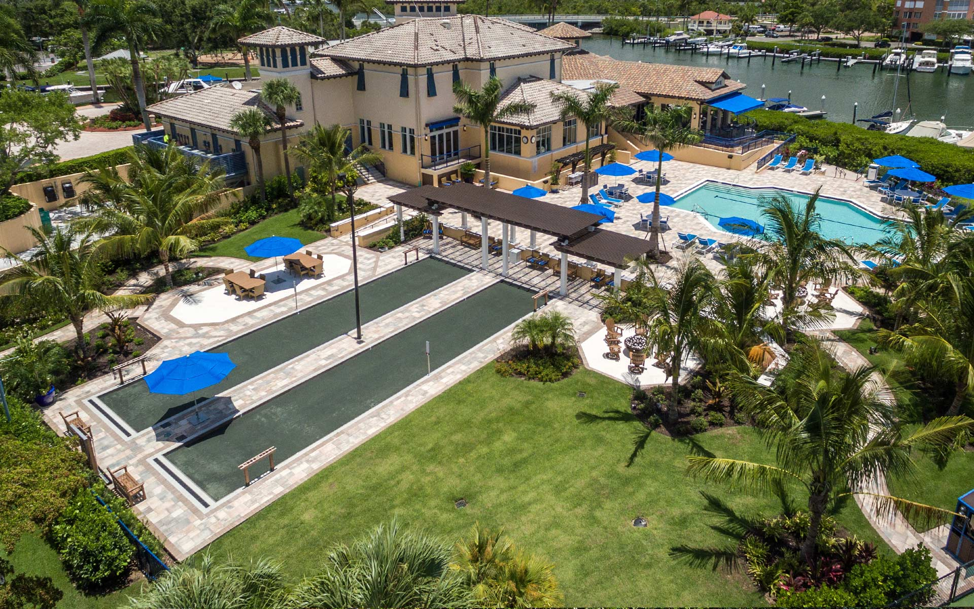 Luxury Naples clubhouse landscaping